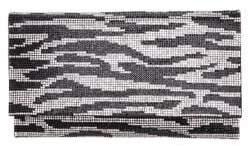Nina Animal-Stripe Crystal Clutch