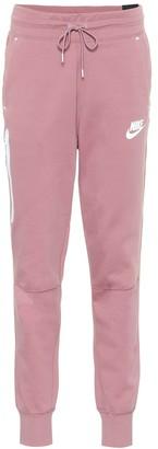 Nike Cotton-blend trackpants