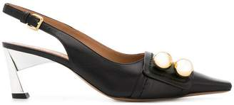 Marni pointed toe embellished pumps