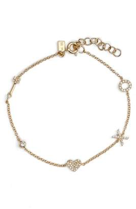 Ef Collection Diamond Sweetheart Charm Bracelet