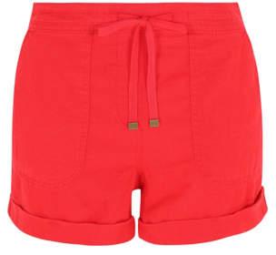 George Linen-Blend Shorts