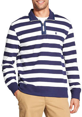 Izod Long Sleeve Stripe Quarter Zip