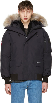 Canada Goose Navy Down Chilliwack Bomber Jacket $800 thestylecure.com