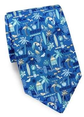 Salvatore Ferragamo Tropical Silk Tie