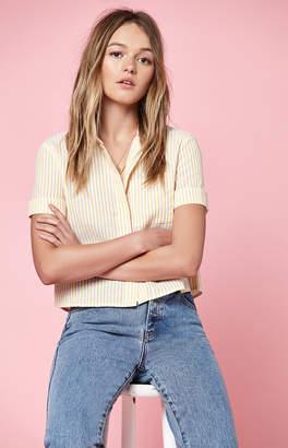 KENDALL + KYLIE Lottie Moss Short Sleeve Button Down Shirt