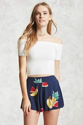 Forever 21 Fruit Print Woven Shorts