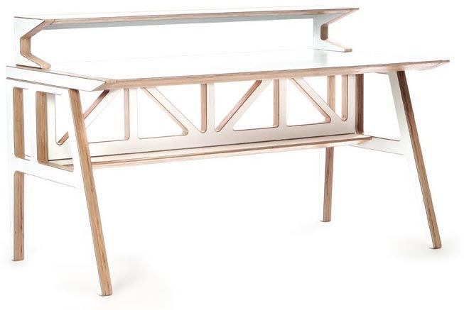 Context Furniture Truss Library Desk