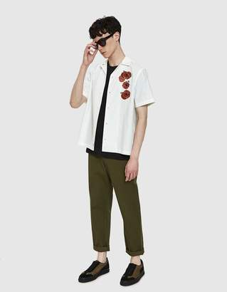 Saturdays NYC Canty Opium S/S Shirt in White