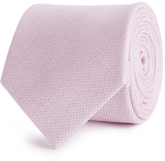 Reiss CEREMONY TEXTURED SILK TIE Pink