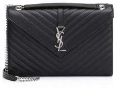 Saint Laurent Large Monogram Matelasse Leather Chain Envelope Shoulder Bag