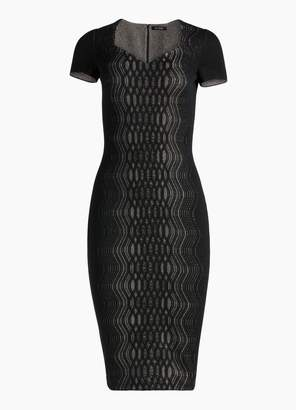 St. John Illusion Jacquard Knit Dress