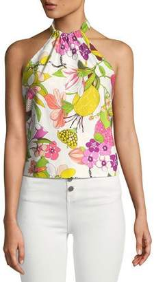 Trina Turk Tamika Top Secret Garden Halter Top