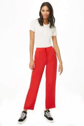 Forever 21 Side-Striped Zippered-Pocket Pants