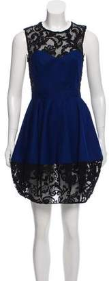 Opening Ceremony Lace-Accented Mini Dress