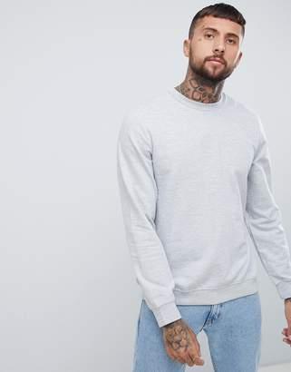 Bershka sweatshirt in light gray