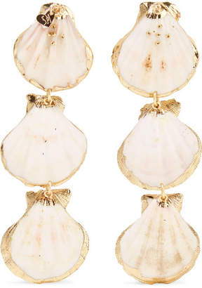 Mercedes Salazar Tropics Gold-tone Resin Clip Earrings - one size