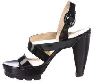 Walter Steiger Patent Leather Multistrap Sandals