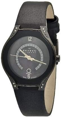 Skagen Women's 886SBLB Label Mother-Of-Pearl Dial Watch