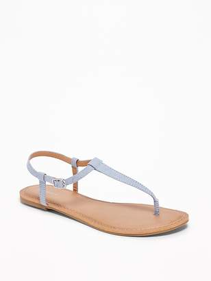 Old Navy Chambray T-Strap Sandals for Women