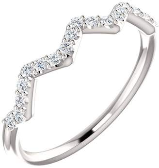 South Beach Diamonds 0.21 ct Ladies Round Cut Stackable Diamond Weddin Band in Platinum In Size 9
