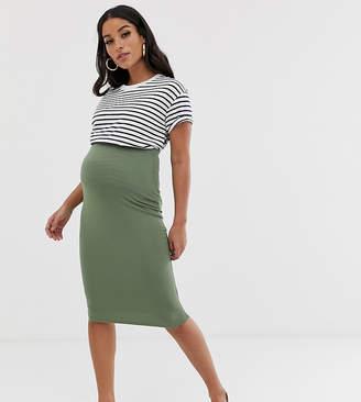 2ce7e097746 Asos DESIGN Maternity jersey pencil skirt