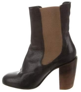 Dries Van Noten Leather Mid-Calf Boots