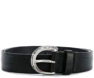 Diesel buckle embellished belt