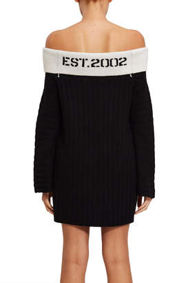 Opening Ceremony Off-The-Shoulder Rib Dress