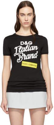 Dolce & Gabbana Black Italian Brand T-Shirt