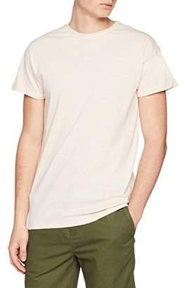 New Look Men's Slub High Roll Regular Fit Crew Neck Short Sleeve T - Shirt,(Manufacturer Size:53)