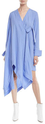 Palmer Harding palmer//harding Finale Striped Asymmetric Shirtdress