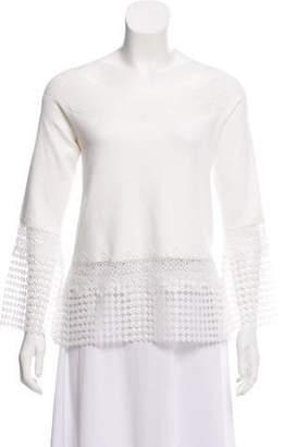 Elie Saab Lace Knit Top w/ Tags