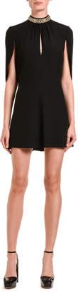 Prada Princess Capelet-Sleeve Dress