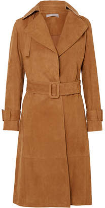 Vince Suede Trench Coat - Tan