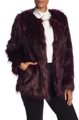 Vince Camuto Long Sleeve Faux Fur Jacket