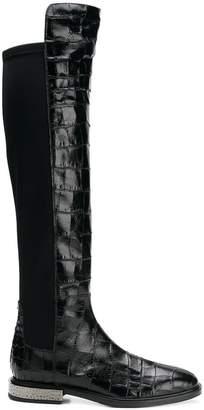 Alberto Gozzi embossed detail boots