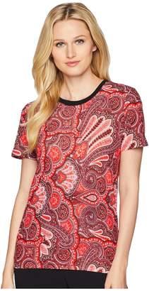 Lauren Ralph Lauren Linen-Blend T-Shirt Women's T Shirt