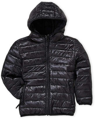 Minoti (Boys 4-7) Quilted Hooded Jacket