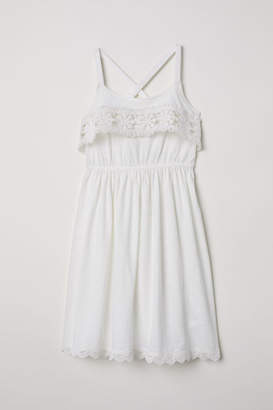 H&M Dress with Lace - White