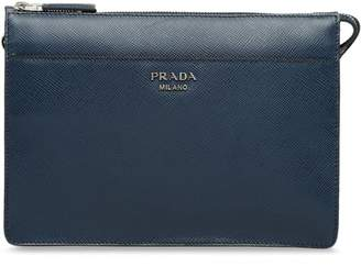 Prada zipped pouch clutch