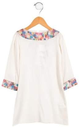 Alice + Olivia Girls' Silk Embellished Dress w/ Tags