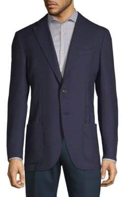 Luciano Barbera Notch Wool Sports Coat