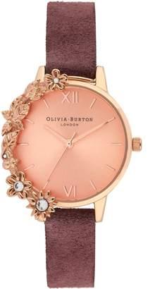 Olivia Burton Case Cuff Leather Strap Watch, 30mm