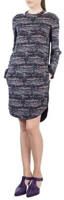 Akris Punto Choker Neck Print Dress