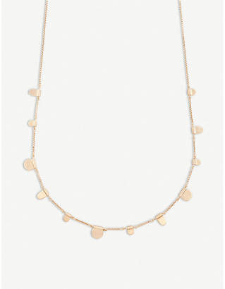 Kendra Scott Olive 14ct rose gold-plated necklace