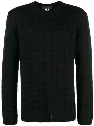 Comme des Garcons square knit sweater