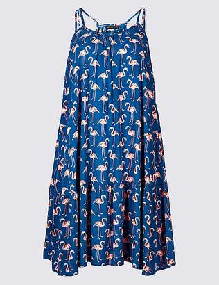 Marks and Spencer Flamingo Print Flippy Beach Dress