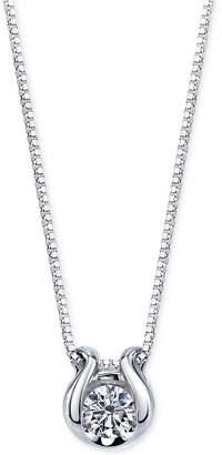 Sirena Diamond Accent Pendant Necklace in 14k White Gold
