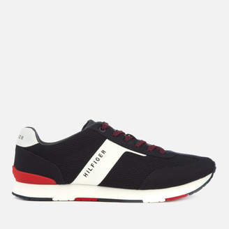 Men's Knitted Material Mix Runner Trainers - Midnight