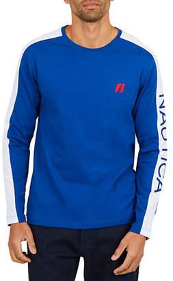 Nautica Signature Long-Sleeve Cotton Sweatshirt